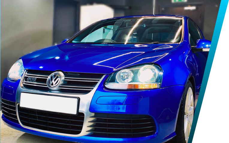Blue VW ceramic coating